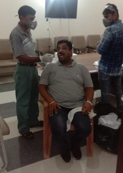 भाजपा नेताओं की कोविड जांच में स्वास्थ्य विभाग की घोर लापरवाही