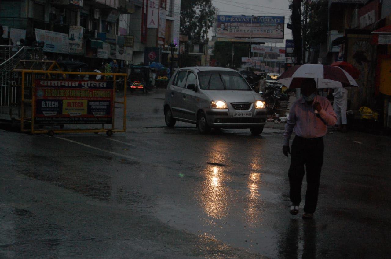 मुजफ्फरनगर में रिमझिम बारिश-दिन में छाया घनघोर अंधेरा, शहर के बाद डूबा पूरा देहात