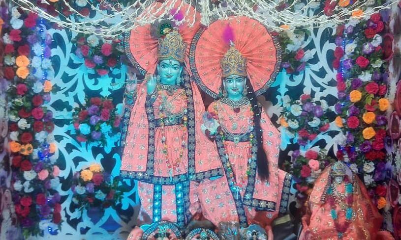 मंत्री कपिल देव ने कराया पूजन, पटेल नगर मंदिर में धूमधाम से मना राधा अष्टमी पर्व