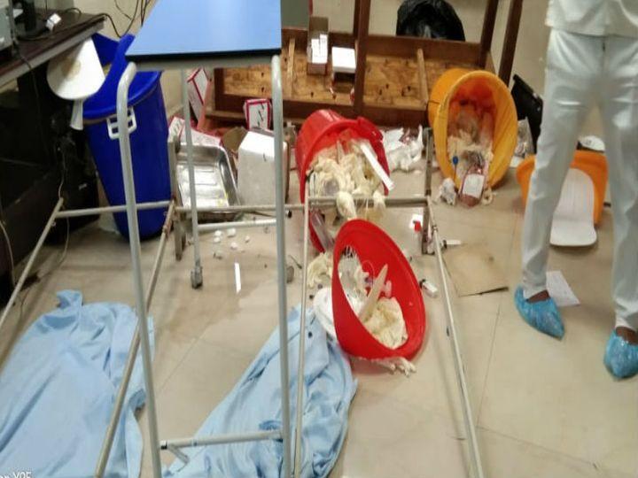 वाराणसी के अस्पताल में भर्ती मरीज की मौत के बाद  तोड़फोड